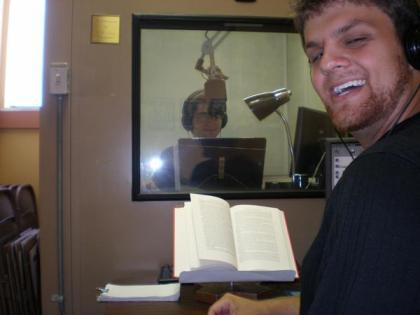 James smiles big for the camera at Recording for the Blind and Dyslexic in Los Angeles.